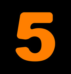number 5 sign design template element orange icon vector image