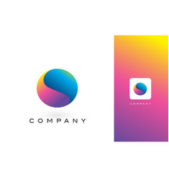 o logo letter with rainbow vibrant beautiful vector image