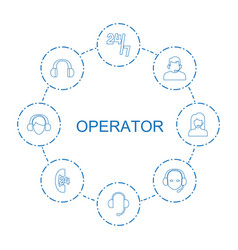 operator icons vector image
