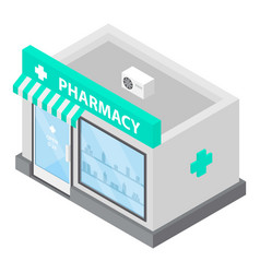 Pharmacy icon isometric style vector