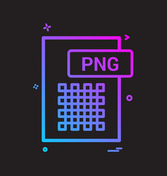 Png file format icon design vector