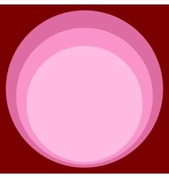Red pink circle retro background art nouveau vector