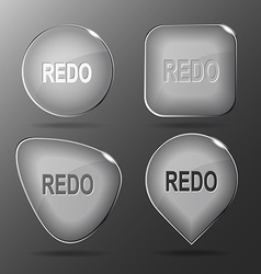 Redo Glass buttons vector