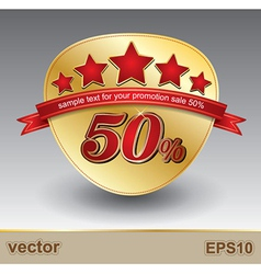 sale red50 vector image