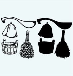 Sauna ready accessories vector image