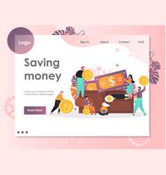 saving money website landing page design vector image