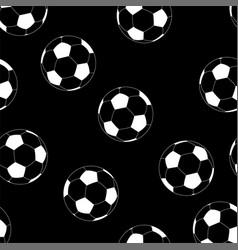 seamless football pattern soccer texture vector image