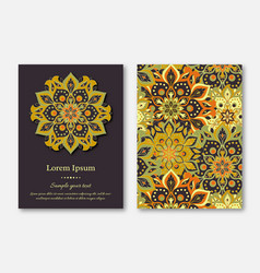 set of cards flyers brochures templates with vector image