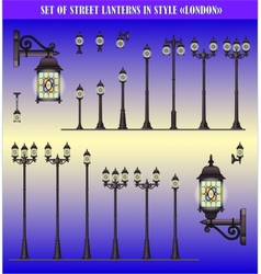 Set of Street lanterns vector