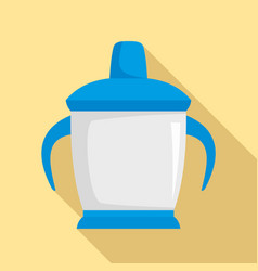 sippy cup icon flat style vector image