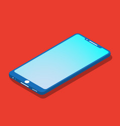 smartfon flat icon isometric vector image