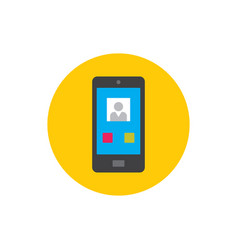 smartphone calling - concept icon in flat graphic vector image