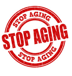 stop aging sign or stamp vector image