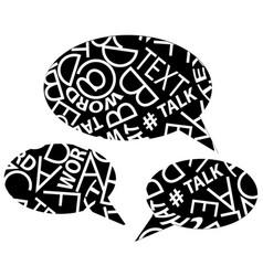 text speech bubbles vector image