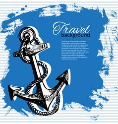 Travel vintage background vector
