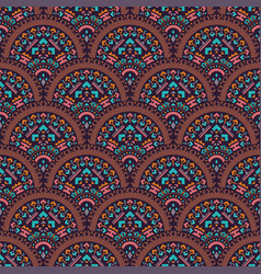 Tribal art seamless pattern ethnic geometric vector