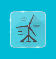 Water turbine silhouette icon in flat style on vector