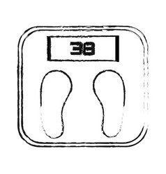 weight scale health icon image vector image