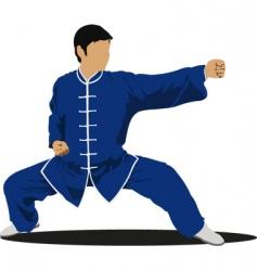 Wushu Master. Martial arts vector image