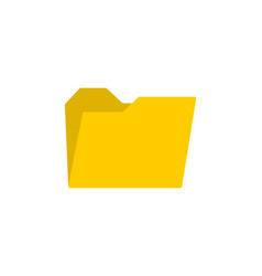 yellow folder icon web icon for your design vector image