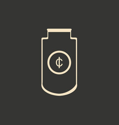 Flat in black and white safe of money vector