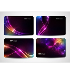 Magical light business cards vector image