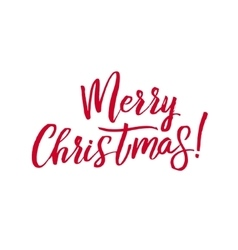 Merry Christmas Red Lettering Inscription vector image vector image