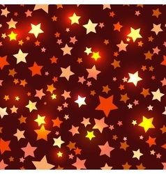 Seamless with shiny red stars vector image