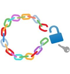broken circle chain vector image vector image