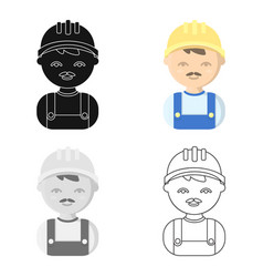 Builder cartoon icon for web and vector