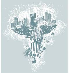 City of angels illustration vector