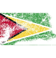Flag of Guyana with old texture vector image