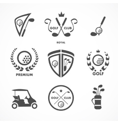 Golf sign and symbols vector image vector image