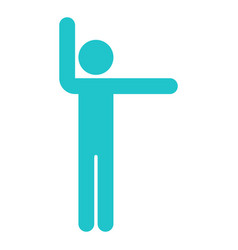 man sign raised hands sport icon vector image vector image