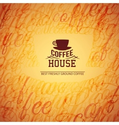 Menu for restaurant coffee house vector image