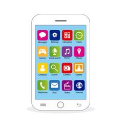 white mobile vector image