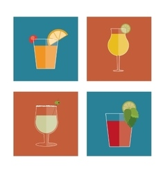 Cocktail drink icon in flat design style Alcohol vector image vector image