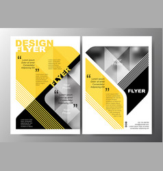 minimal modern poster brochure flyer design layout vector image vector image