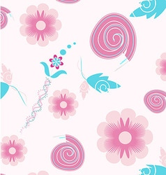 Seamless flowers colorful pattern vector image vector image
