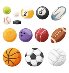 Set of balls isolated vector image