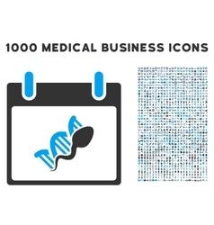 Sperm DNA Replication Calendar Day Icon With 1000 vector image vector image