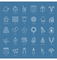30 Christmas Icons vector image vector image