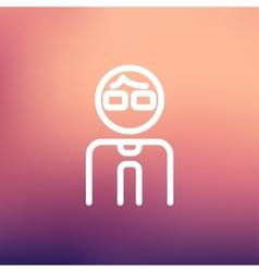 Businessman thin line icon vector image