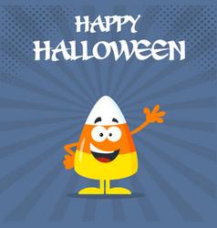 funny candy corn flat design waving vector image vector image
