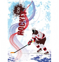 ice hockey poster vector image vector image