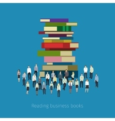 People crowd around books vector image