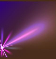purple star ray vector image vector image
