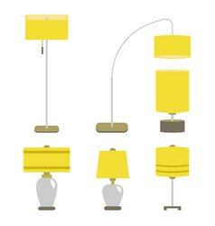set of lamps lamp light vector image