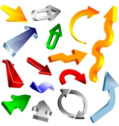 3d arrow collection vector image