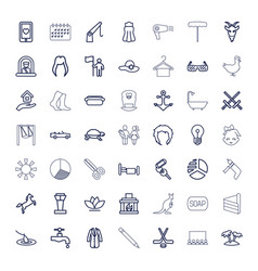 49 silhouette icons vector